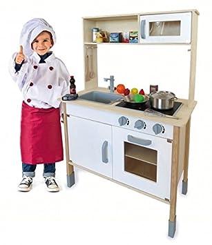 Kinderküche Holz Spielküche Mit Aufsatz Und Viel Zubehör Sound Geschirr