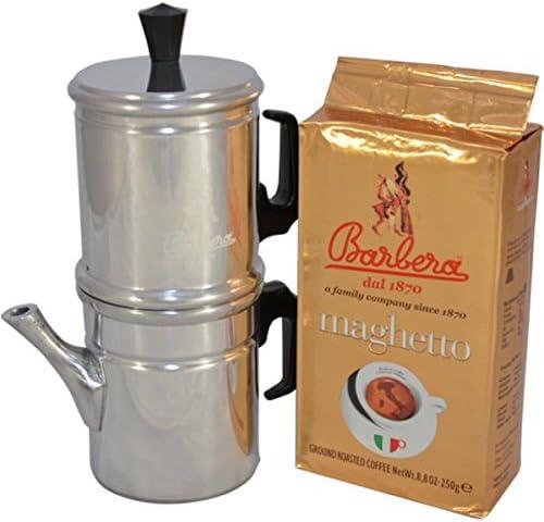 NEAPOLITAN COFFEE POT - BARBERA COFFEE + MAGHETTO - GROUND COFFEE ...