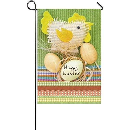 Starowas Easter Egg and Toy Chicken Garden Flag Banner 12 x