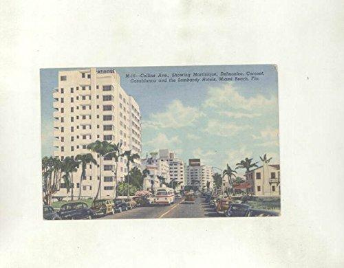 1954 Collins Ave Lombardy Hotels Miami Beach Florida ORIGINAL - Beach Ave Collin Miami
