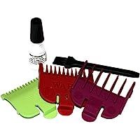 Wahl Ensemble de 3 sabots pour tondeuse à cheveux Super Taper, Chromepro, Balding, Magic 5 Star Vert/rouge/prune 0,5/1,5 mm, 1/3 mm , 1,5/4,5 mm