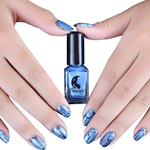 (Nail Polish Christmas Day Lomsarsh 3PCS/Set Cracked Nail Shatter Nail Kit Nail Polish Set of 12 Colors Included Base Set Crack Lacquer 6ml/0.2fl.oz. L)