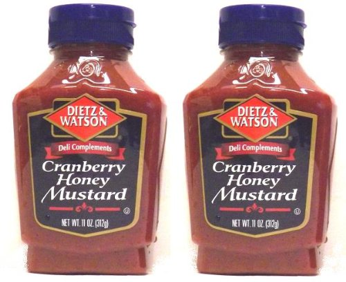 Dietz & Watson, Deli Compliments, Cranberry Honey Mustard, 11oz Bottle (Pack of 2) - Cranberry Mustard Sauce