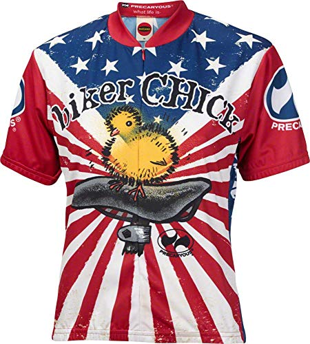 Biker Chick Women's Premium Cycling Jerseys - Multiple Designs Available (XLarge, American)