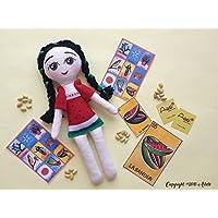 Muñeca de trapo diseñada, elaborada y pintada a mano.