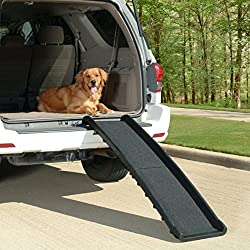 Lightweight ,Full Size, Bi-fold Simple, Folding Design 62 Pet Ramp, Large or Small Pets up to 200 Lbs, Ramps for Dogs ,Cats - Use for Cars, Suv, Trucks - Easy to Use by Solvit