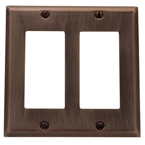 Baldwin 4741.112.CD Classic Square Beveled Edge Double GFCI Switch Plate, Venetian Bronze