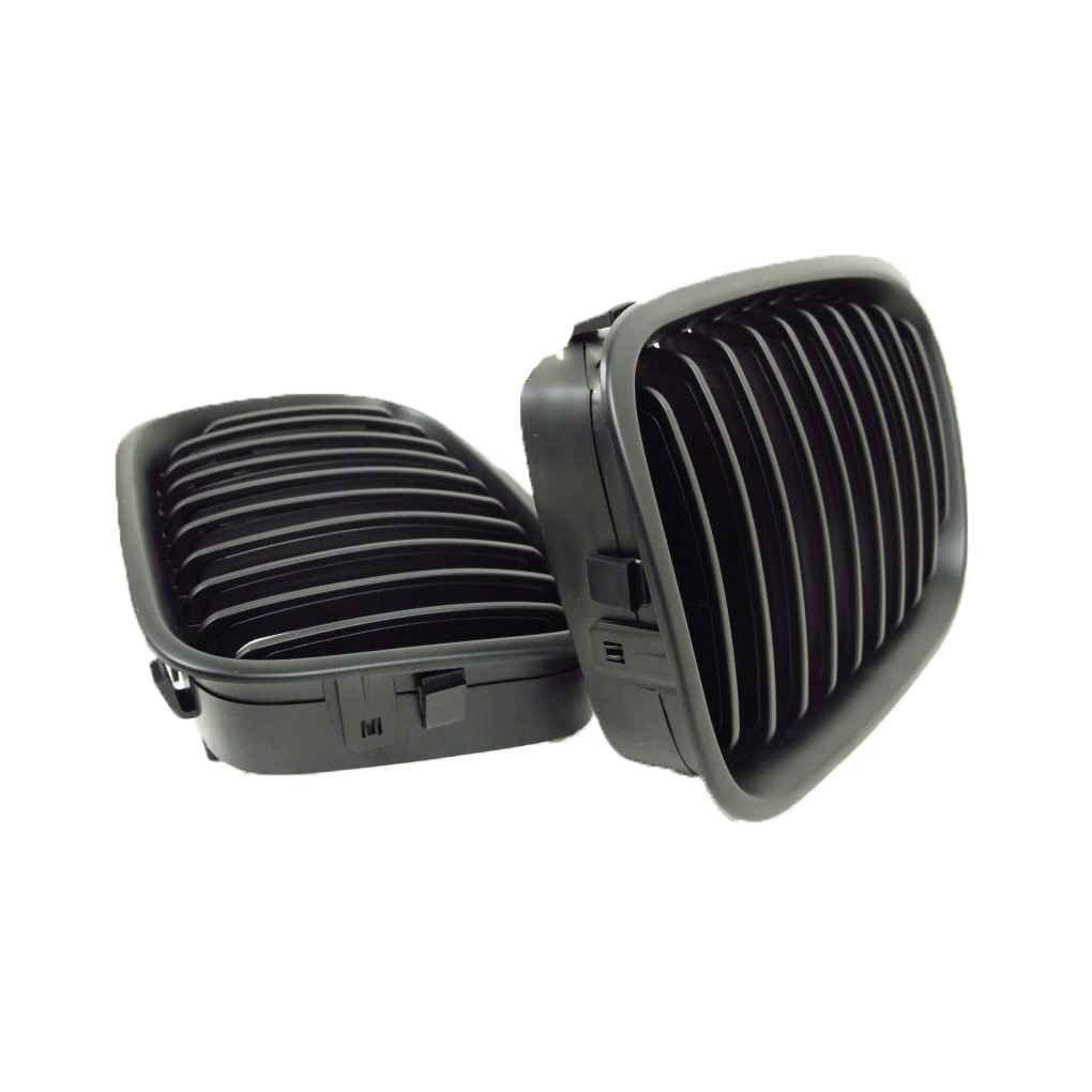 Ben-gi ABS Voiture en Plastique Avant Rein Avant Grillages Noir pour BMW Grillages S/érie 3 E46 4 Portes 1998-2001