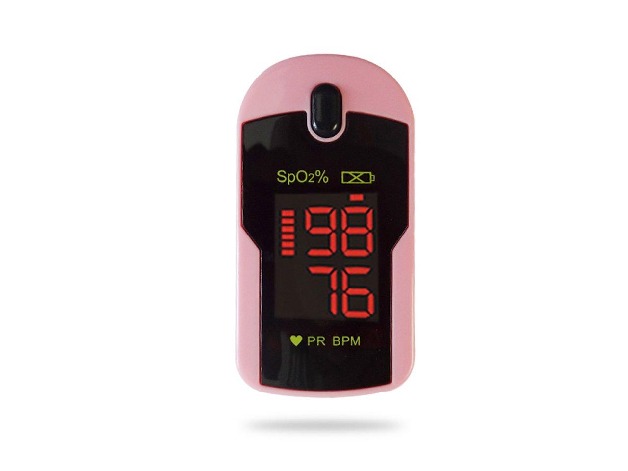Concord Rose Pink Fingertip Pulse Oximeter