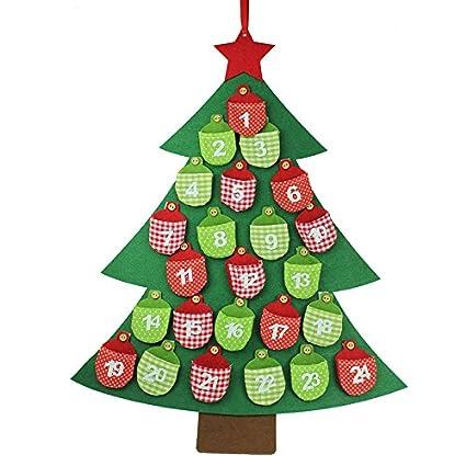 Calendario Dellavvento In Feltro.Gisela Graham Albero Di Natale Calendario Dell Avvento Fatto Con Feltro