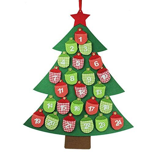 Gisela Graham : albero di Natale calendario dell'avvento fatto con feltro