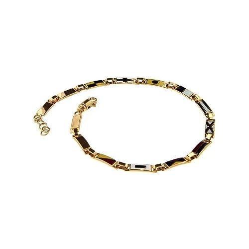 design raffinato autentica di fabbrica stile unico Bracciale Bandiere Nautiche Oro Giallo 14 Piastre: Amazon.it ...