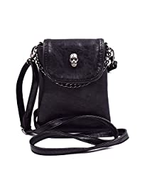 Woman Purse Skull Body-cross Casual Satchel Pockets Cellphone/Money/Card Storage Bag
