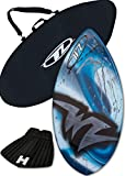 Skimboard Package - Blue - 41'' Fiberglass Wave Zone Edge plus Board Bag and/or Traction Pad - For Riders up to 130 lbs … (Board + Traction) (Board + Traction + Bag)