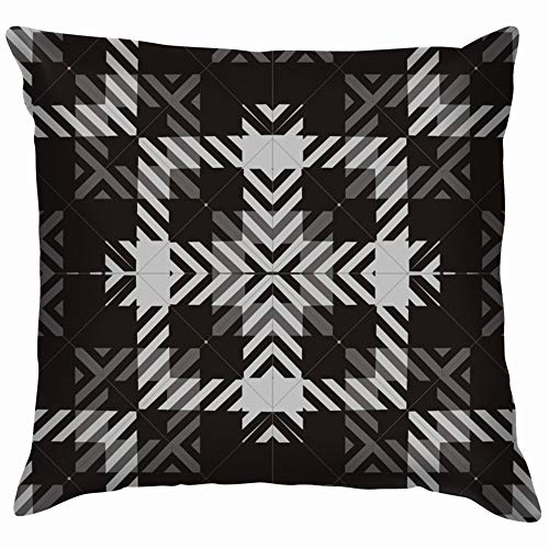 Ornamental Tartan Plaid Beauty Fashion Soft Cotton Linen Cushion Cover Pillowcases Throw Pillow Decor Pillow Case Home Decor 26X26 Inch]()