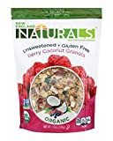 Cheap New England Naturals Organic Unsweetened Gluten-Free Berry Coconut Granola, 12 Ounce Pouch Berry Coconut High Fiber Omega-3 Granola Breakfast Cereal, Non-GMO, USDA Organic, Kosher