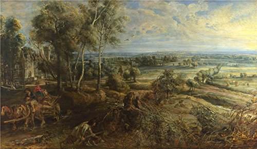 Oil Painting 'Peter Paul Rubens A View Of Het Steen In The Early Morning ' Printing On Perfect Effect Canvas , 30 X 52 Inch / 76 X 131 Cm ,the Best Garage Decoration And Home Artwork And Gifts Is This Amazing Art Decorative Canvas Prints