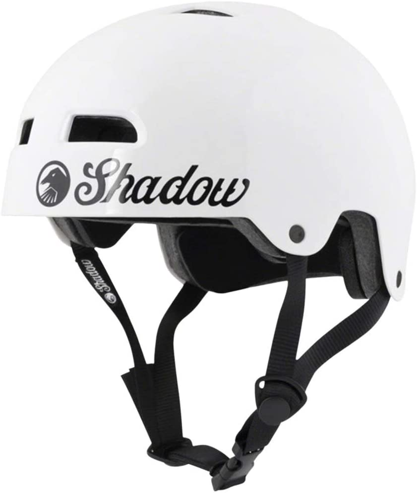 SHADOW CONSPIRACY FEATHERWEIGHT HELMET SM MD BMX BIKE BICYCLE GLOSS WHITE NEW