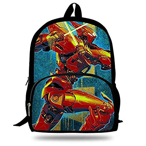 Amazon.com: 16-inch Mochila Pacific Rim: Uprising Movie School Bags Robot for Teenagers Children Cartoon Bag Kids Backpack Boy: Kitchen & Dining