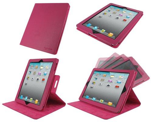 rooCASE Dual-View Multi Angle Leather Folio Case for The new iPad / iPad 2