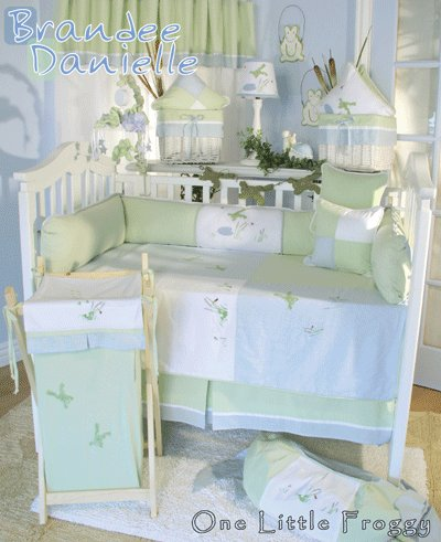 One Little Froggy Baby Bedding 4 Piece Set