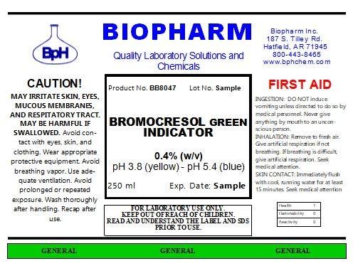 Bromocresol Green Indicator 0.04% w/vAqueous Solution (250 mL)