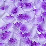 Fabric Silk Flower Rose Petals Wedding Party Decoration Table Confetti Package of 5000 (Purple White)