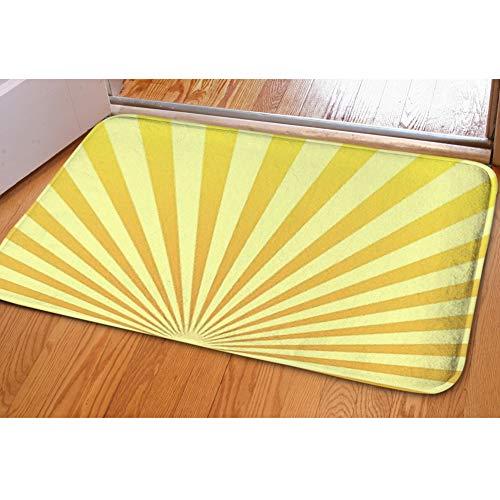 iBathRugs Door Mat Indoor Area Rugs Living Room Carpets Home Decor Rug Bedroom Floor Mats,Sun Beam ray Sunburst Pattern