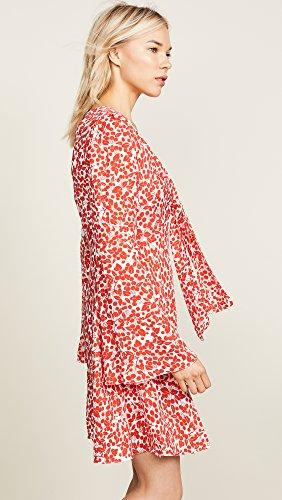Von Furstenberg Jardin Diane Cerise Mini Robe Cravate Avant L'ivoire Des Femmes