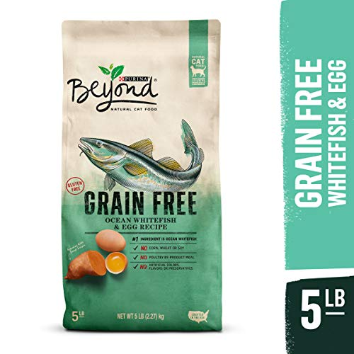 Purina Beyond Grain Free, Natural Dry Cat Food, Grain Free Ocean Whitefish & Egg Recipe - 5 lb. Bag