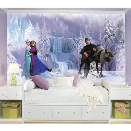 RoomMates Disney Frozen Chair Rail Prepasted Mural 6' x 10.5' - Ultra-strippable by RoomMates