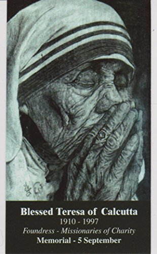 (Saint Mother Teresa of Calcutta Quotes Holy Card Wallet Size)