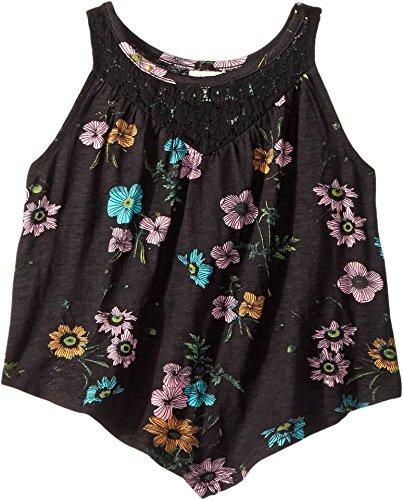 (O'Neill Kids Baby Girl's Charlize Knit Tank Top (Toddler/Little Kids) Black 4 US Little)