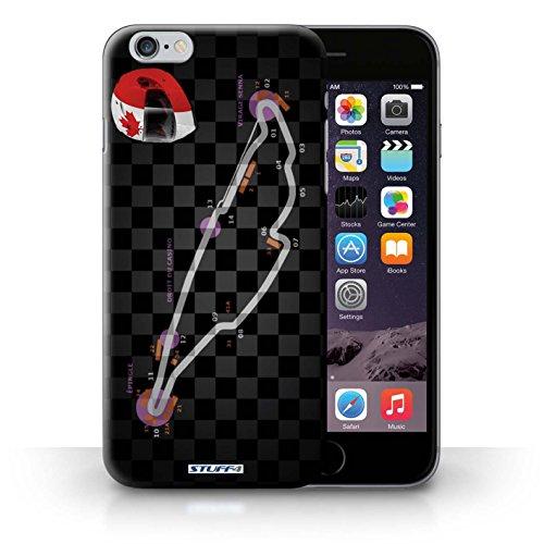 Hülle Case für iPhone 6+/Plus 5.5 / Kanada/Montréal Entwurf / 2014 F1 Piste Collection