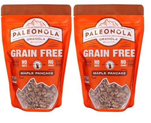 Paleonola Grain Free Gluten Free Non-GMO Granola, Maple Pancake Flavor - Pack of 2, 10 Oz. ea. (Honey Bunches Of Oats With Vanilla Bunches)