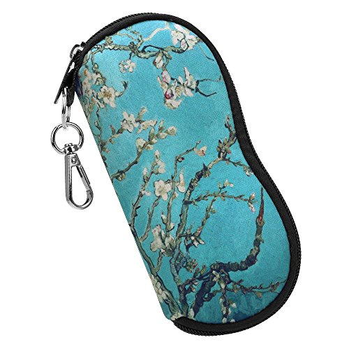 Fintie Eyeglasses Case with Carabiner Hook, Ultra Light Portable Anti-scratch Soft Travel Bag Dust-proof Neoprene Zipper Sunglasses Sleeve Pouch, - Proof Eyeglasses