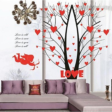 (QINF Angel Cupid Love Tree Fashion Background Wall Stickers)