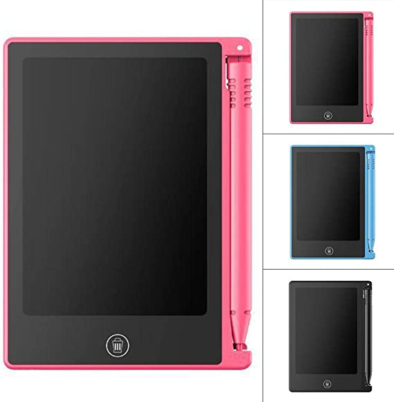 4.4inchポータブル実用的な再利用可能なLCDライティング描画タブレット会錠 Lzpzz (Color : Pink)