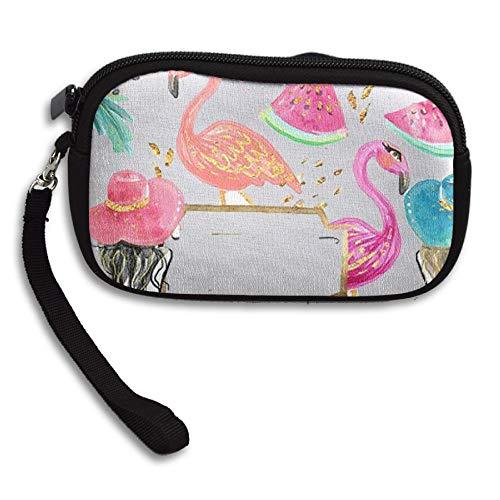WCVRUT Unisex Clutch Wallet For Woman Ladies -Summer Flamingos Long Purse Bag Men Gentlemen by WCVRUT