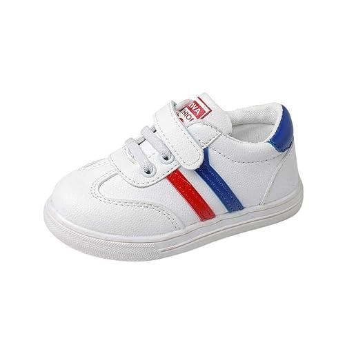 pas cher pour réduction a4f8b 3f8f4 GongzhuMM Sneakers Basses Mixte Enfant,Chaussures Bébé en Cuir,Premier Pas  Bébé 1 Ans-6 Ans