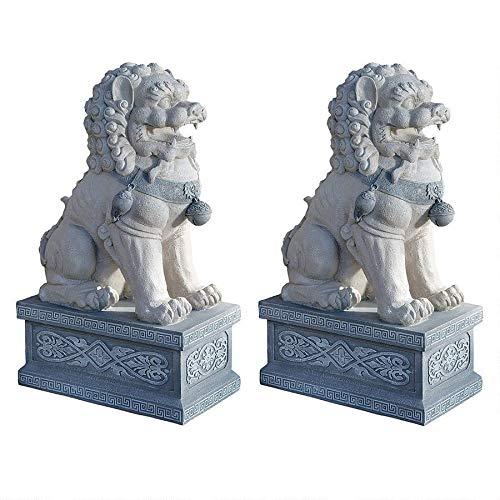 Design Toscano Giant Foo Dog of the Forbidden City Garden Statue - Set of 2