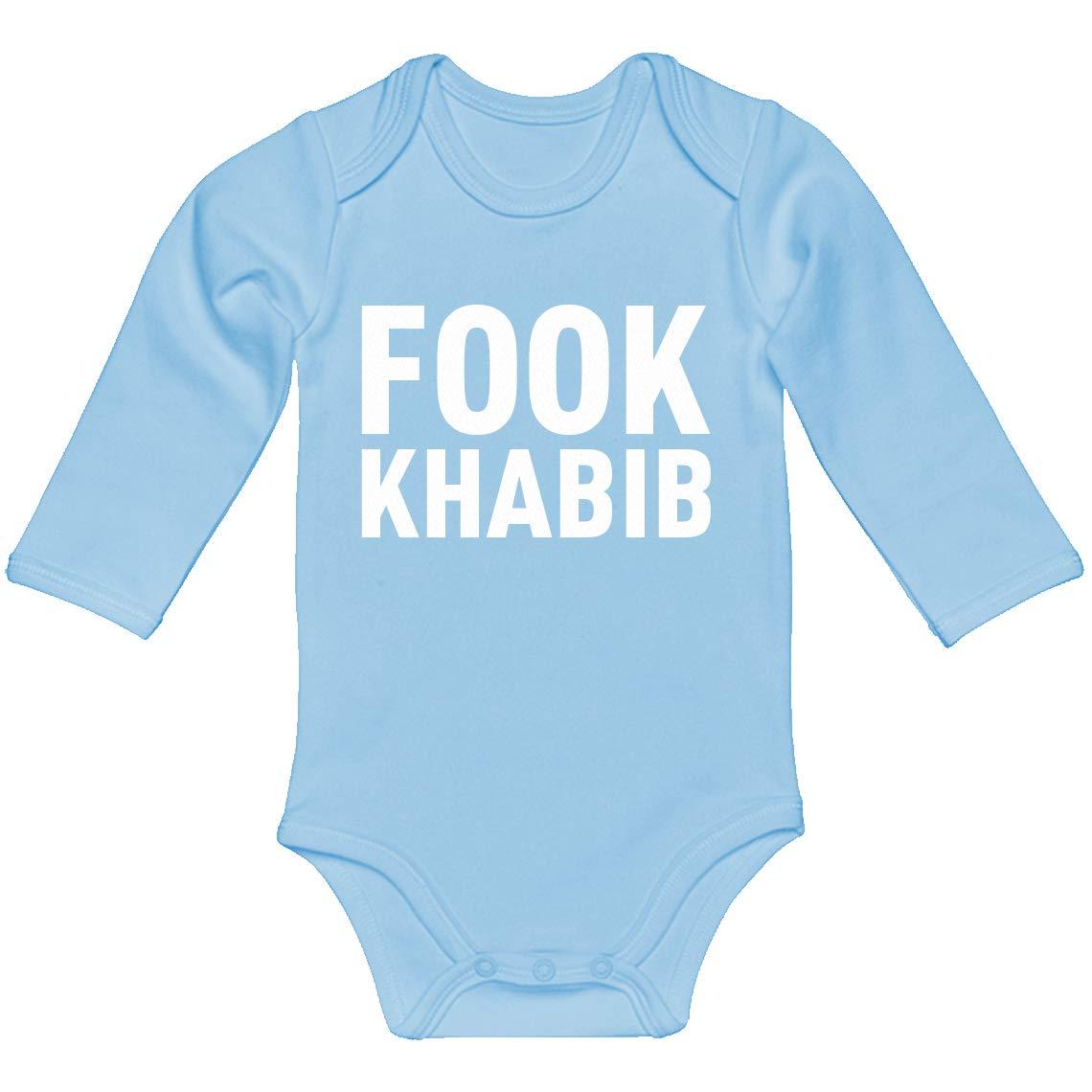 Indica Plateau Baby Onesie Fook Khabib 100/% Cotton Long Sleeve Infant Bodysuit