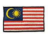 Flag Embroidered Iron on Sew on Badges Patches - Asia & Africa (Country: Malaysia)