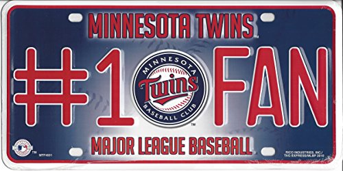MLB Minnesota Twins #1 Fan Metal Tag - Minnesota Twins Decorations