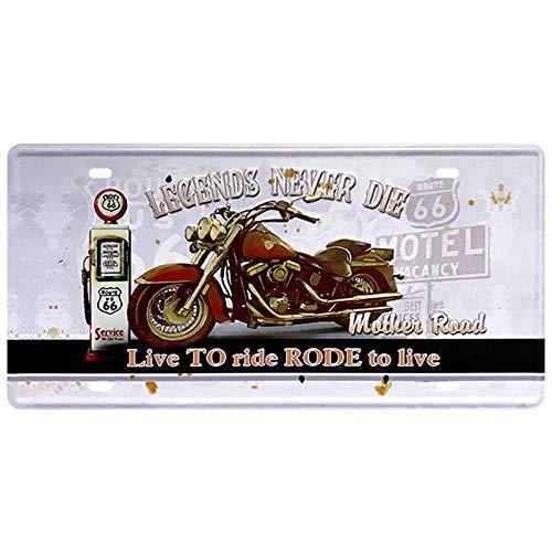 tong99 Número de Motocicleta Coche Placa de Metal Placa de ...