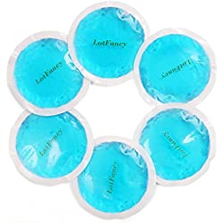 LotFancy Reusable Hot or Cold Gel Pack, Soft and Comfortable Heating or Cooling Therapy for Sprains, Muscle or Joint Pain, Arthritis, Bruises, Fever, etc., Pack of 6