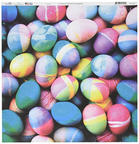 "UPC 871887021224, Sugar Tree Papers 12""X12""-Multi-Colored Eggs 25 per pack"