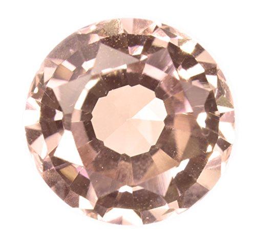 - Created Padparadscha Sapphire Loose Lab Gemstone Round 7mm
