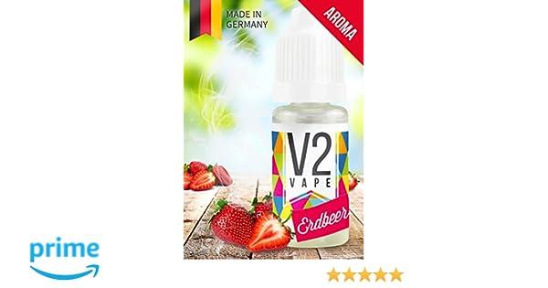 V2 Vape Strawberry Concentrate alta dosis de sabor a comida premium 10ml 0mg libre de nicotina: Amazon.es: Alimentación y bebidas