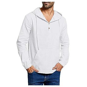 ღLILICATღ Camiseta con Encapuchado para Hombre Botón ...